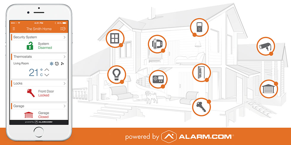 kelowna smart home by alarm.com