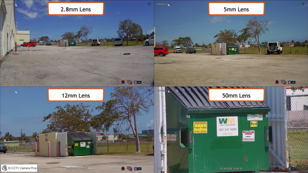 Security Camera Lens Size Comparison With Hd Over Coax